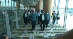 Federal Political Negotiation and Consultative Committee (FPNCC) members arriving in Naypyitaw (Peace Commission)