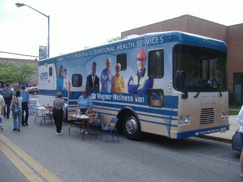 This vehicle was just placed into service recently and came in handy for doing health screenings like one I had.