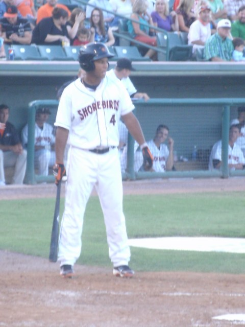 Sent down for the second half, Garabez Rosa has helped out a moribund Shorebirds offense.