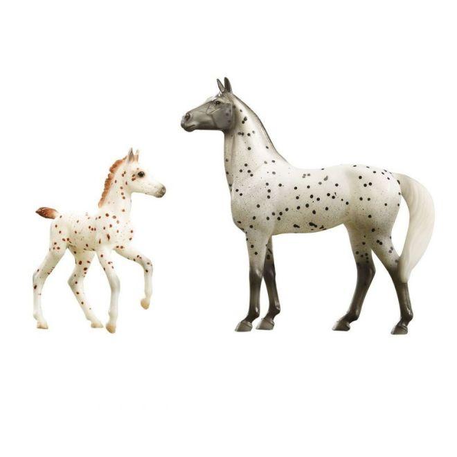 Breyer Classics 62207 - Koń i źrebak knabstrup Spotted Wonders
