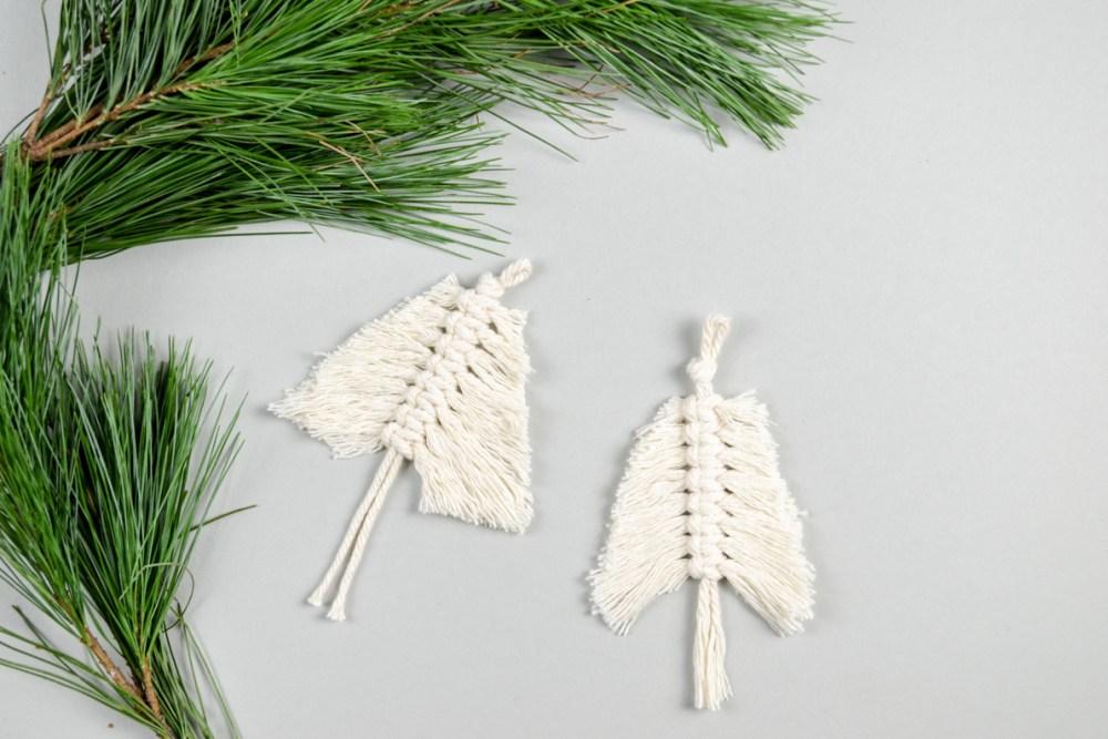 DIY Anleitung für einen Mini-Tannenbaum aus Makramee