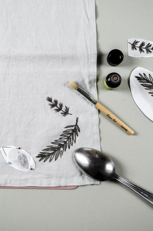 Tischservietten bedrucken per Lavendeldruck