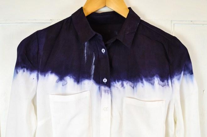 DIY Dip Dye Bluse