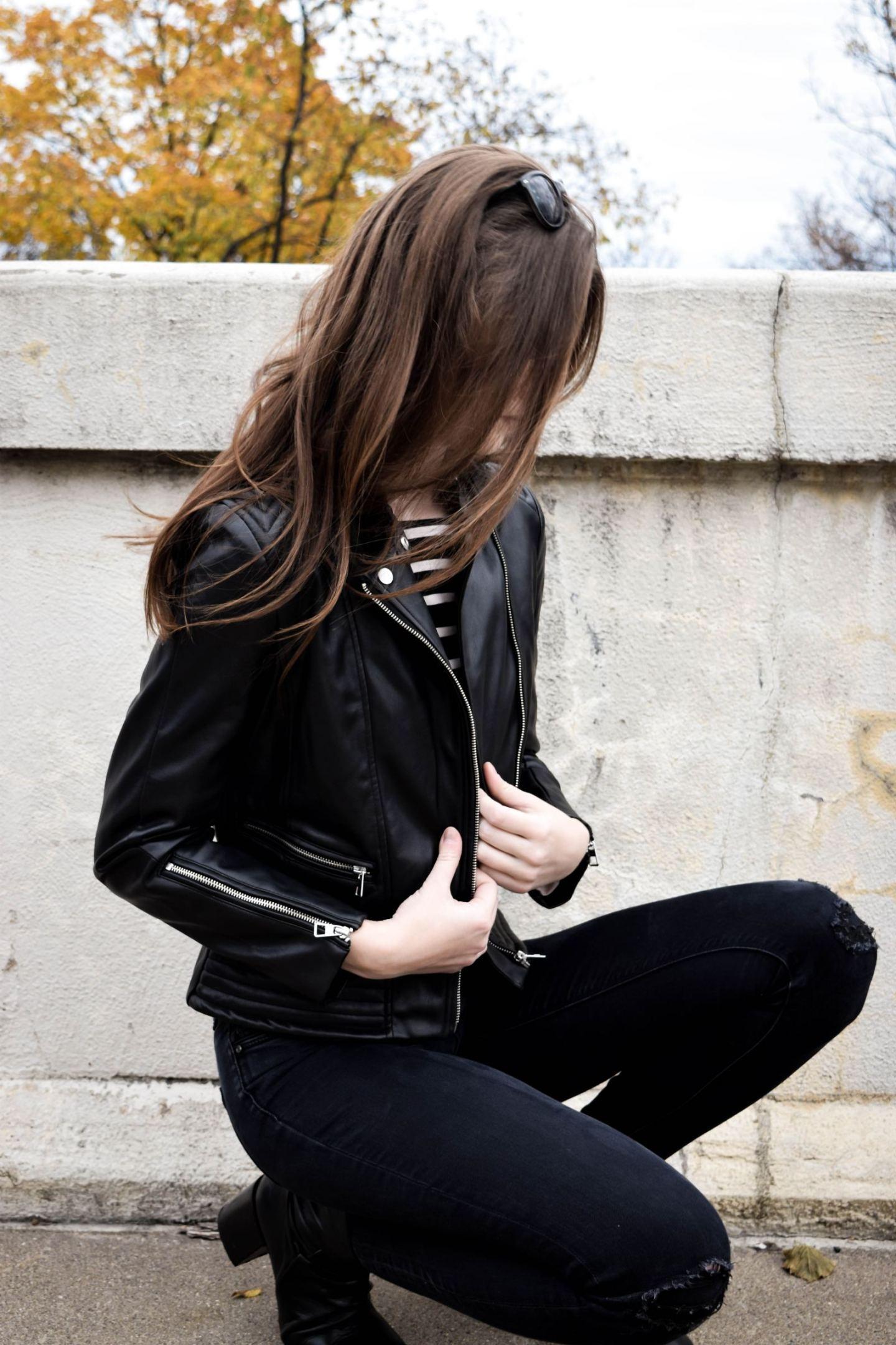 Leather Jacket 1 | Monochrome Minimalist