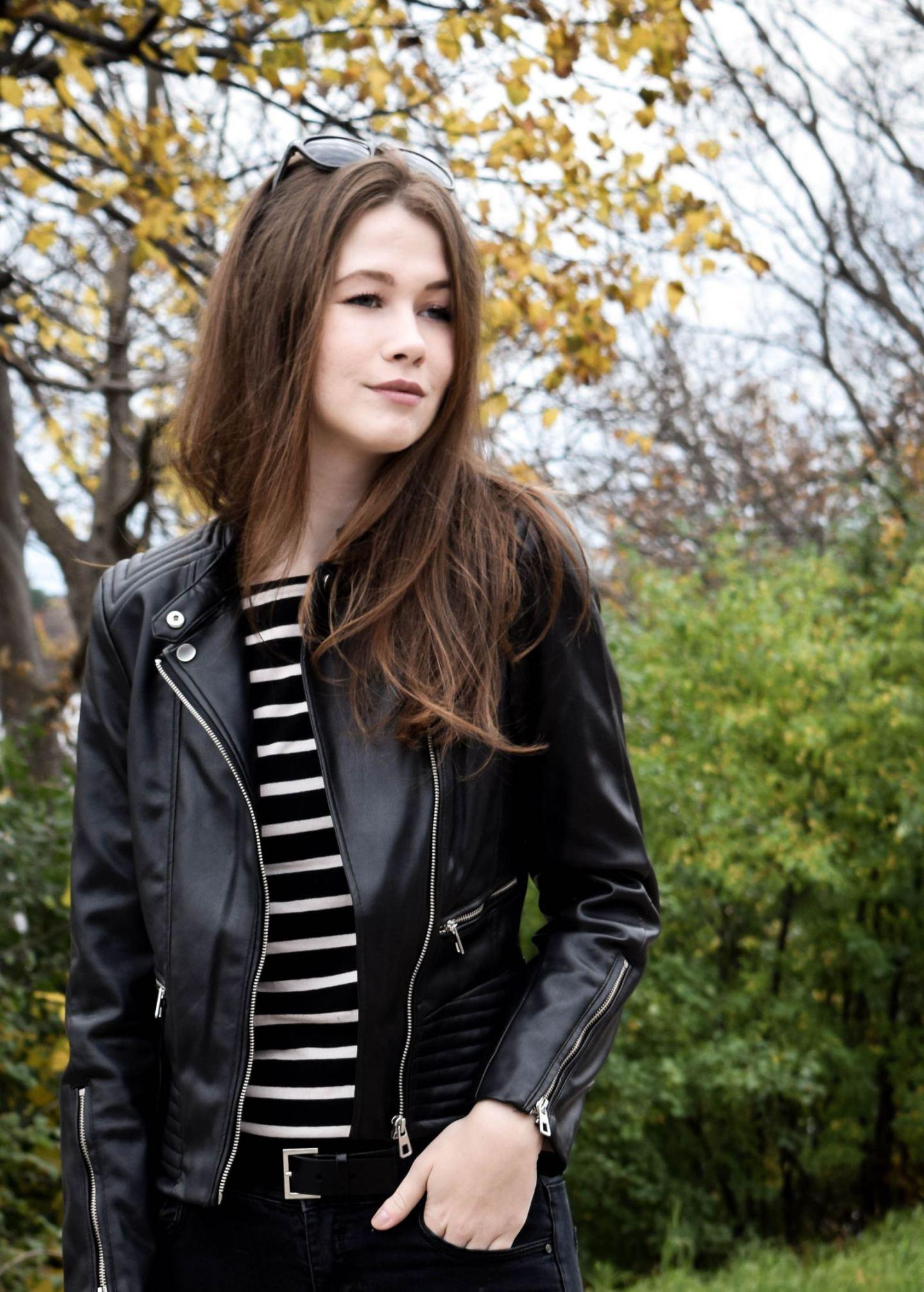 Leather Jacket 4 | Monochrome Minimalist