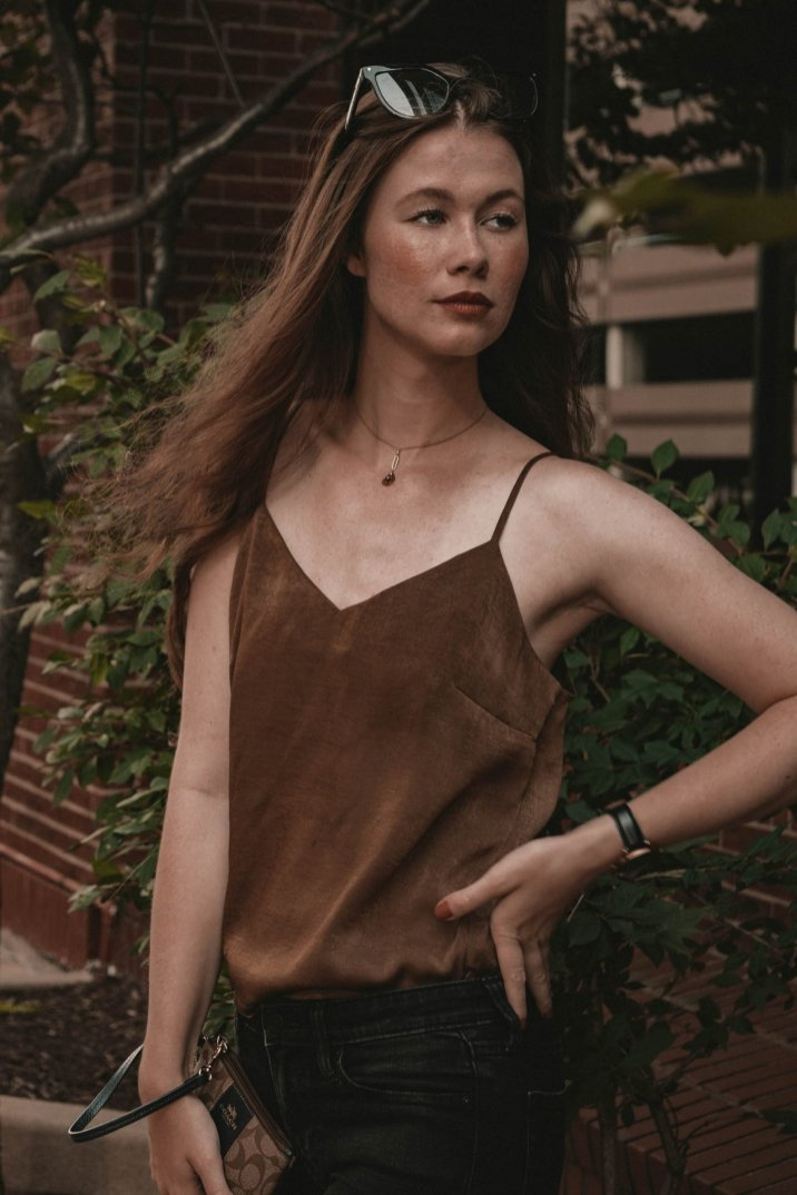 silk camisole, monochrome minimalist, minimalist style