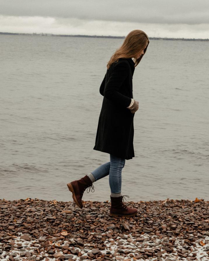 Two Harbours Getaway | Monochrome Minimalist wearing Calvin Klein, Levis, Timberlands and Iris&Ink