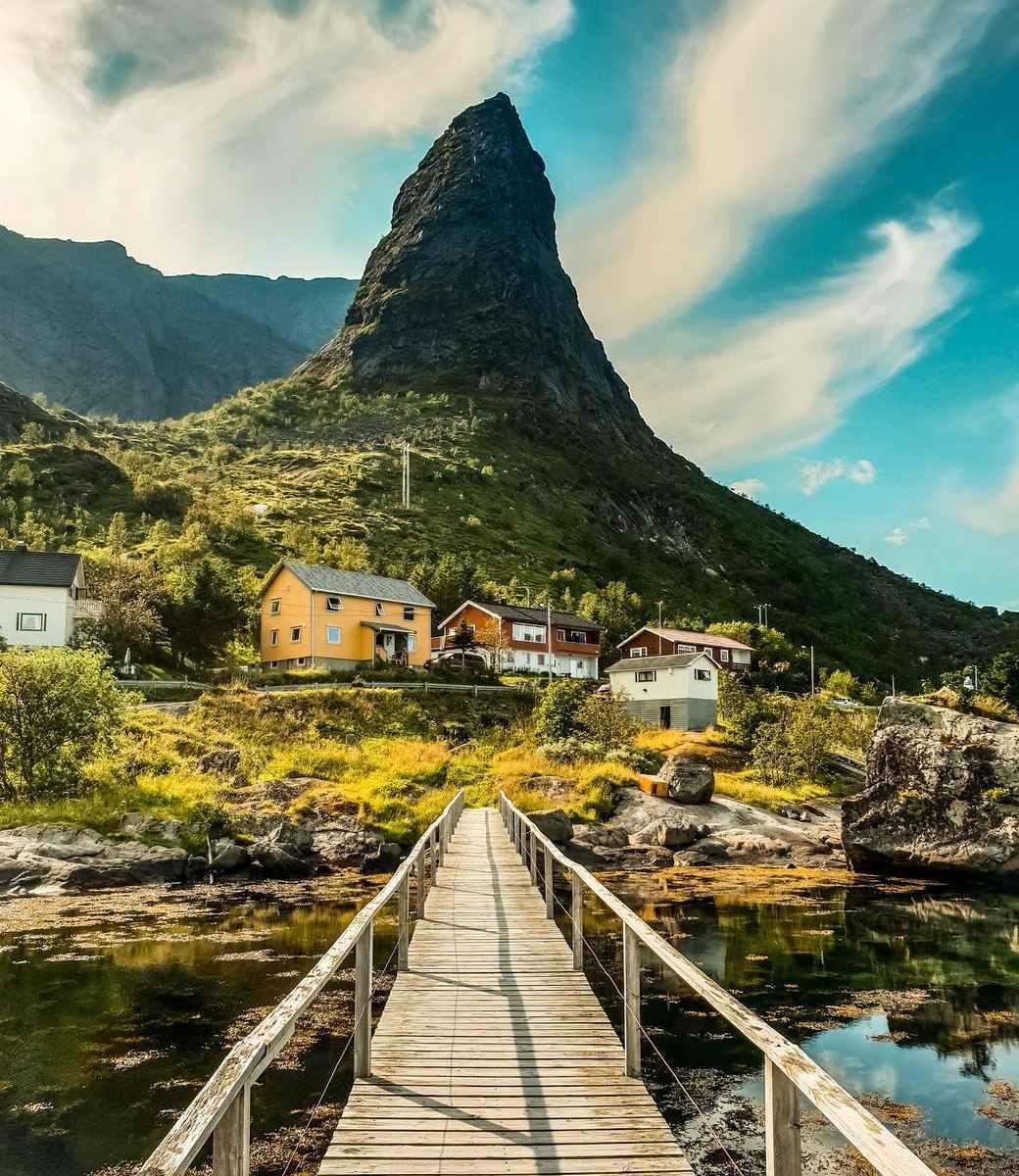 landscape photography of landmark mountain