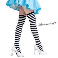 不思議の国のアリス 靴下 ニーソックス ボーダー