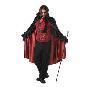 コスプレ衣装/コスチューム California Costumes COUNT BLOODTHIRST / ADULT 【袖付ベスト・襟スカーフ付きケープ