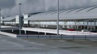 Auch wenn es nur die Rückseite des Terminals ist würde man sich Texturen wünschen, auf denen auch etwas zu erkennen ist.