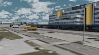 Weiß auch in der Rückansicht zu überzeugen: Das Lufthansa Cargo Center.