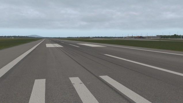 Schön uneben: Landebahnen folgen dem Terrain des Flughafens.