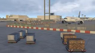 Auch am Lufthansa Cargo Center wurde mit viel Liebe zum Detail gearbeitet.