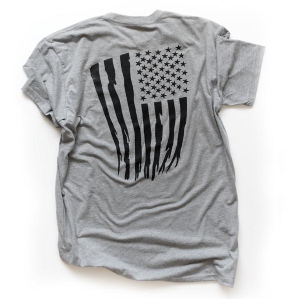 Monolith Tattered Flag T-shirt Back