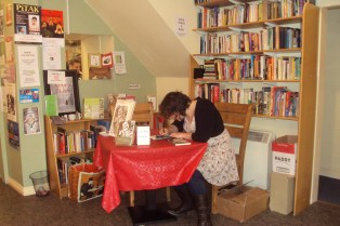 Diana Muller signing books at the Book Stop Cafe, Kenmare Ireland, June 12th 2013