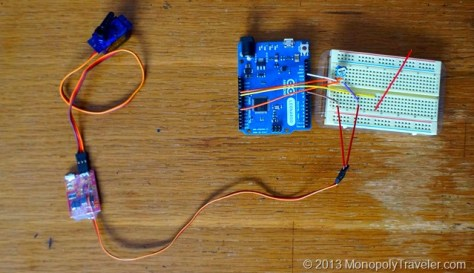 Arduino with Shutterbug and Servo