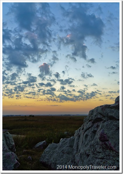Sunset Over the Blue Mounds
