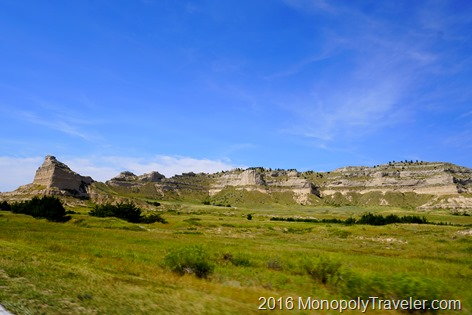 The bluffs at Scotts Bluff National Monument