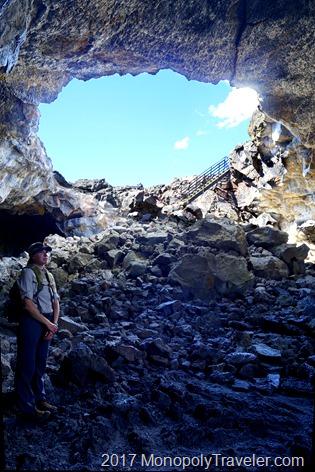 Inside a lava tube