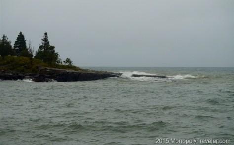 Waves Crashing Against the Shore