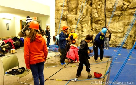 Preparing to Climb the Rock Wall
