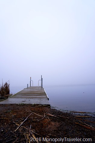 Dock leading into the fog