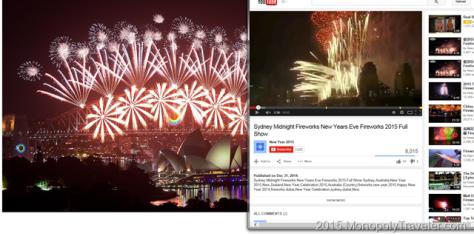 2015 New Years Eve Fireworks in Sydney Australia