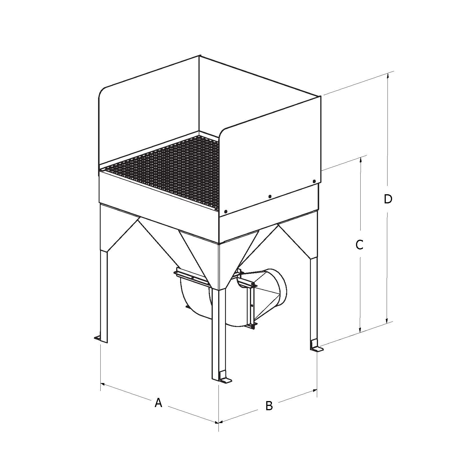 Monoxivent Downdraft Table