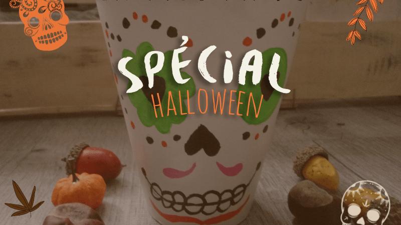 DIY : pot de fleurs décoré pour Halloween