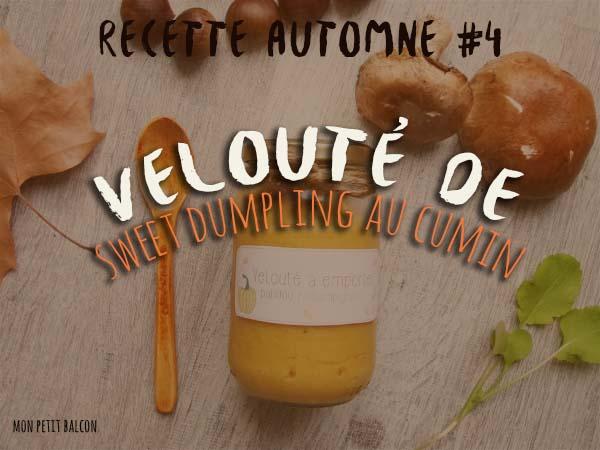 Velouté de patidou champignon et cumin (dumpling)