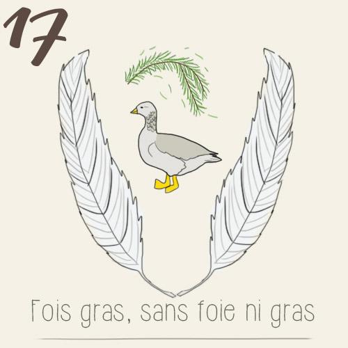 Illustration calendrier de l'avent 2015 par mon petit balcon jour 17 - un foie gras végétarien, sans foie ni gras