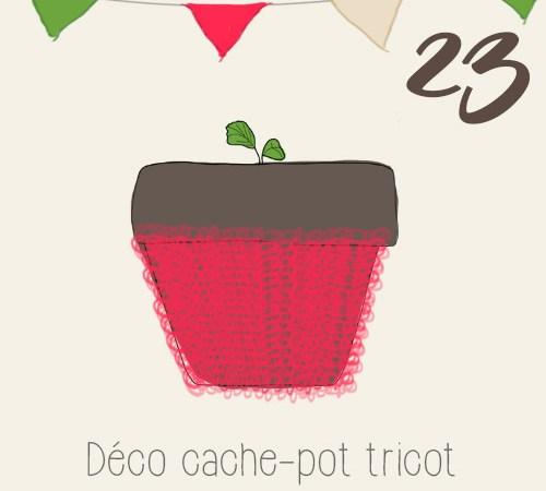 DIY réaliser une décoration et des cache-pots tricot