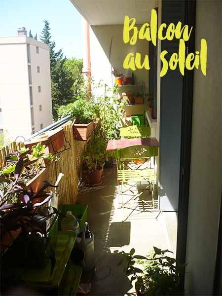 balcon potager ensoleillé à Montpellier
