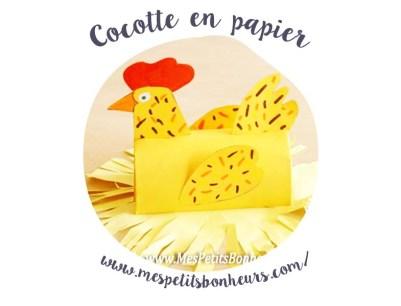 Spécial pâques : recettes végétales et déco minimaliste - cocotte en papier