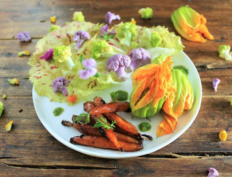récoltes d'ailleurs recettes fleurs comestibles et vegan