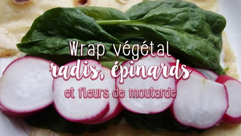 Wrap végétarien et pâte maison (recette et tuto pliage)