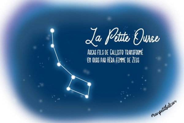 Constellation de la petite ourse dessinée Nuit des étoiles 2016