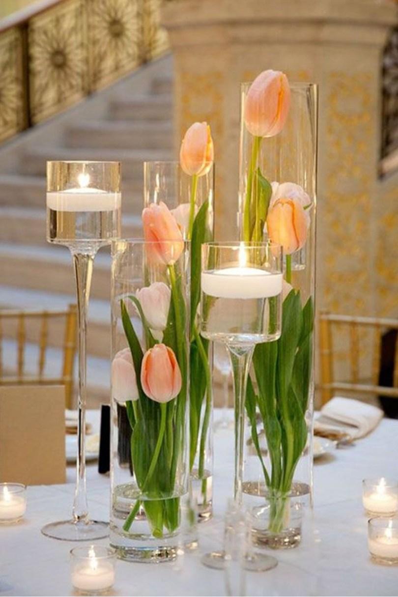 bouquet tulipe roses orange