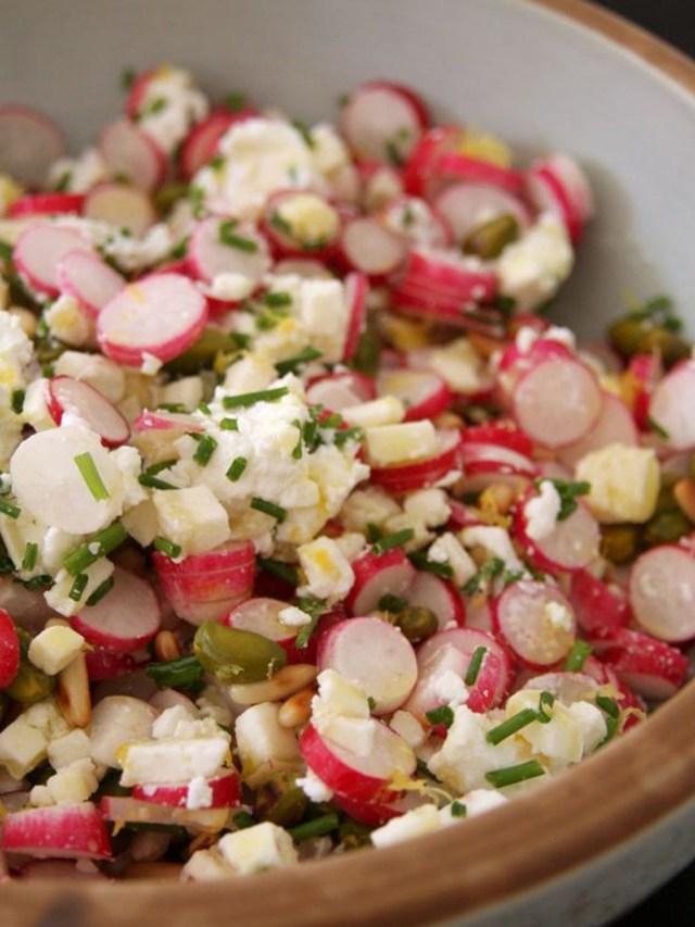 salade de radis à la ciboulette pour le pique-nique