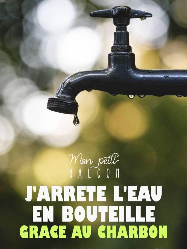 filtrer l'eau du robinet avec du charbon