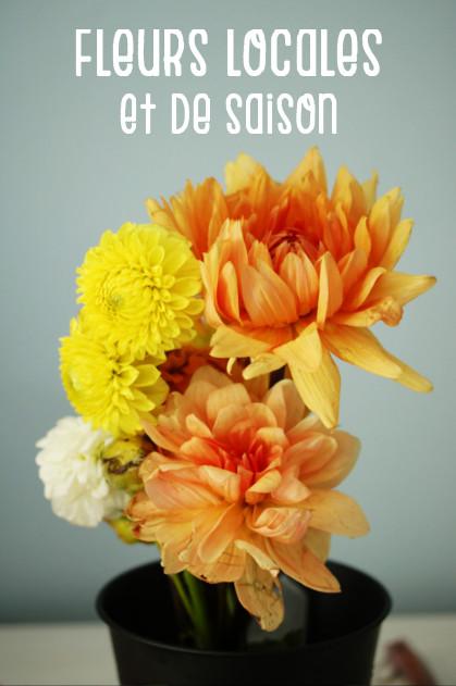 consommation durable : fleurs locales et de saison