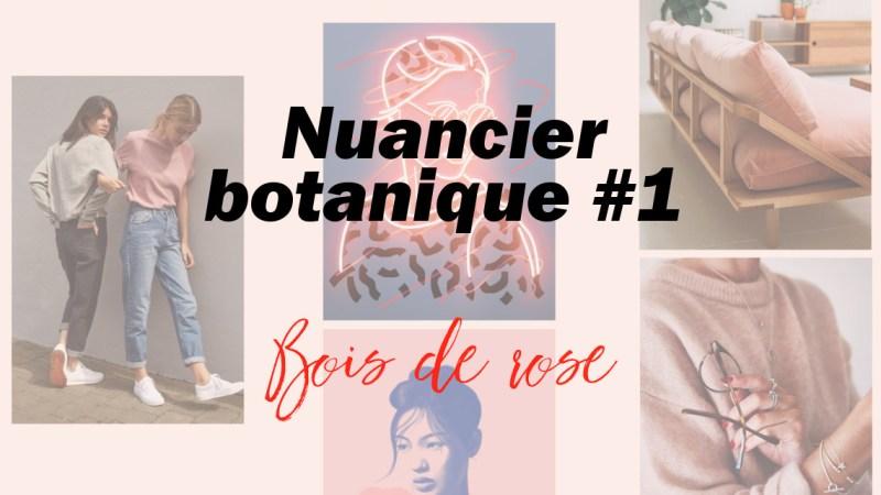 Nuancier botanique #1 – Bois de rose