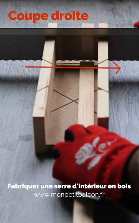 découper tasseau en biseau avec une scie à onglet