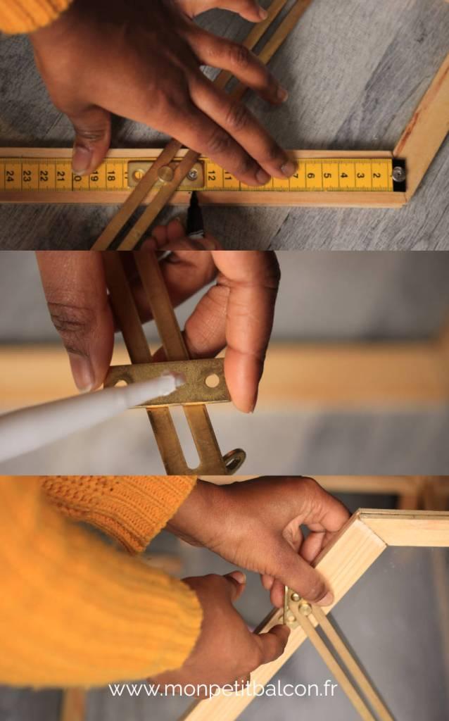 ajout de coulisseau à frein en laiton pour fermer et ouvrir la porte