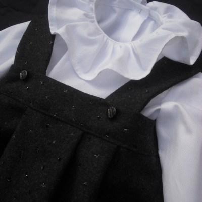 Barboteuse Sashkia et blouse Berceuse blanche Mon Petit Vestiaire