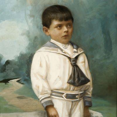 Enfant en costume marin. Portrait du début du XXème siècle