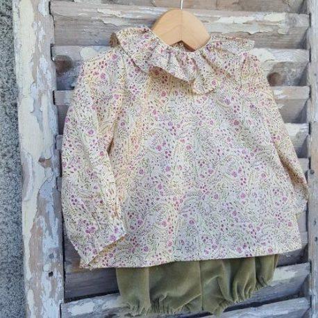 Blouse à col Pierrot : la blouse Fougère Mon Petit Vestiaire