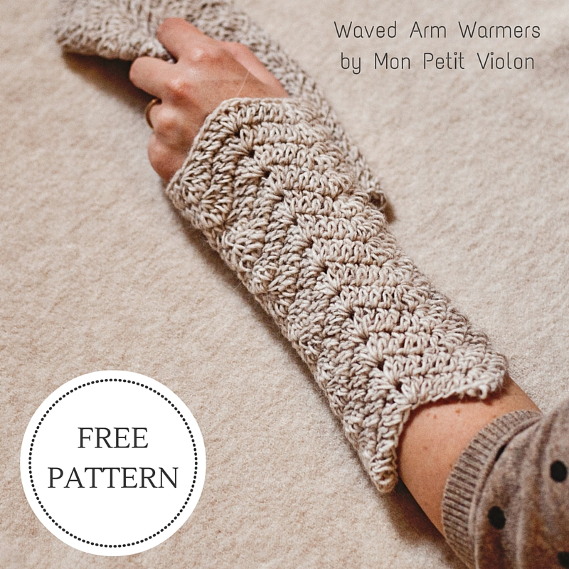 New Free Pattern – Waved Arm Warmers