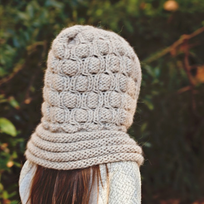 Mon Petit Violon Knits - Cocoon Hooded Cowl
